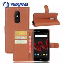 Wholesale Factory Price Flip PU Leather Cell Phone Case for Wiko Wim Lite with Card Slot