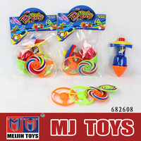 Cheap children laser musical flying light up spinning top toys