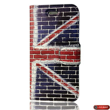 UK flag phone case premium leather case for iphone for samsung S6