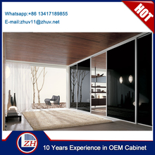 Black color sliding mirror wardrobe doors latest bedroom wardrobe sliding door design