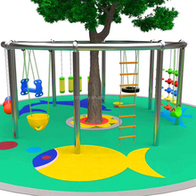 Outdoor climbing structure sports game kids swings for school playground