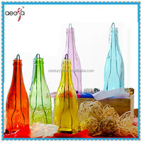 Bottle shaped fancy candle holders hanging glass candle holder