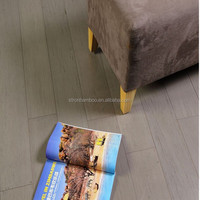 Grey Colour Wire Brushed Strand Woven Bamboo Flooring