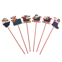 bulk high quality wooden long stick christmas ornament gift