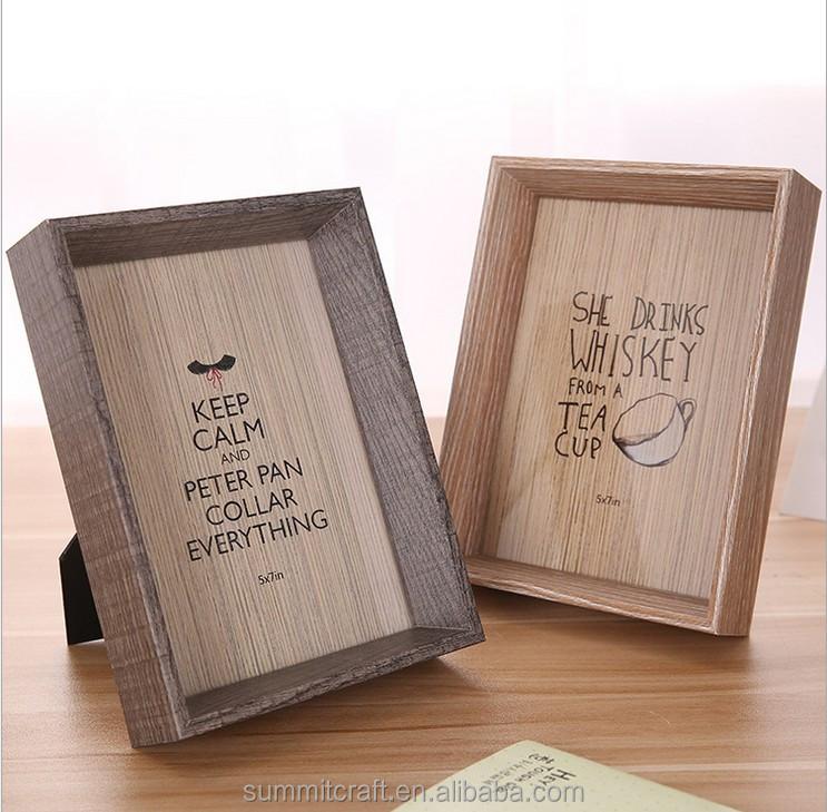 수제 100% 나무 깊은 상자 프레임 사진 프레임 디자인-액자 -상품 ...