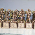 2013 Baseball Player Resin Trophy Bronze Figure