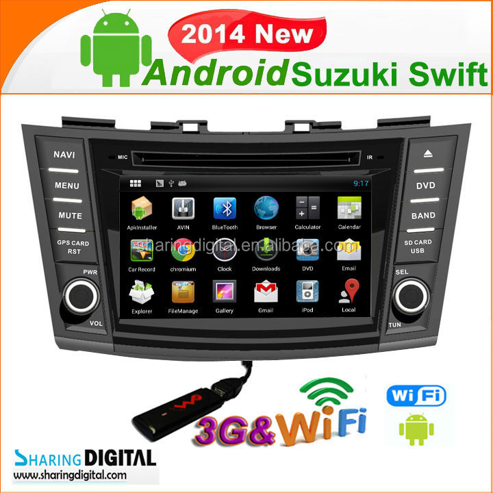 "SUZ-7697GDA NEW Good Quality 7"" Touch Screen CAR PURE ANDROID 4.2 DVDfor Suzuki Swift 2011-2013"