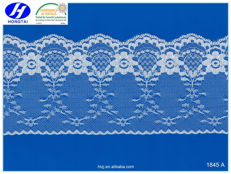 2016 hongtai beautiful top quality nylon mesh double sided lace trims