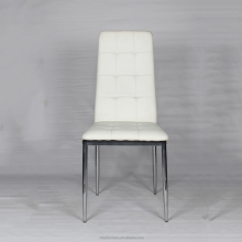 PU four chromed legs dining chair