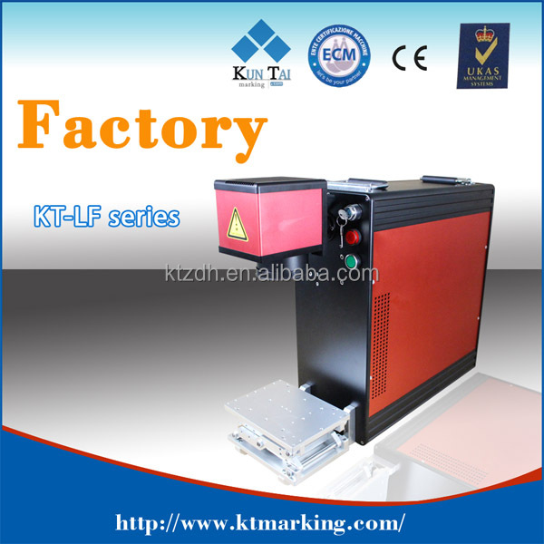 China 10w pet tag fiber laser marker machine with laptop,cheapest 10w portable fibre laser marking system for metal sheets