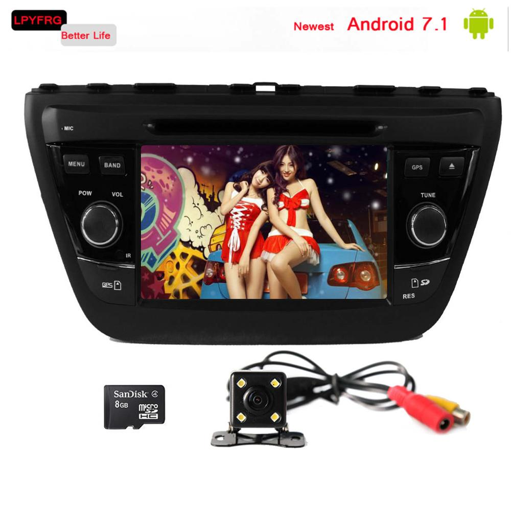 android 7.1 7 inch capacitive screen car auto gps stereo multimedia player for suzuki s cross sx4 2015 mirror dab+