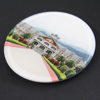Cheap products customized printing with logo non-slip acrylic cup coaster