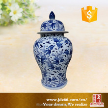 Jingdezhen made handpaint gold fish chinese ceramics storage ginger jar