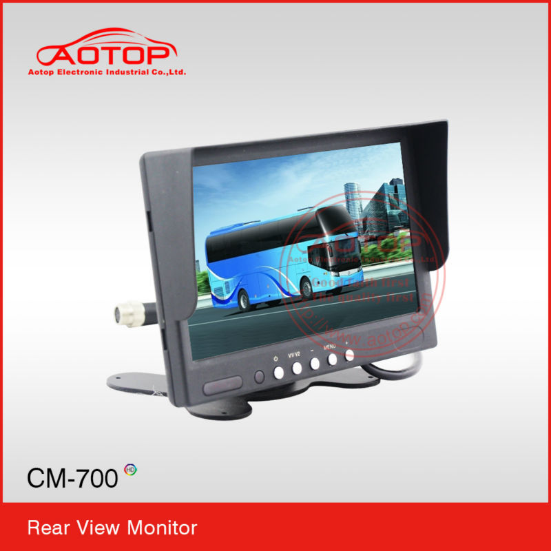 7 inch Car parking display with High resolution,OSD menu,Remoter Control,Multi language,Build in Speaker for bus and truck