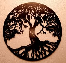 home decoration craft 2018 morden laser cut tree metal wall art for gift