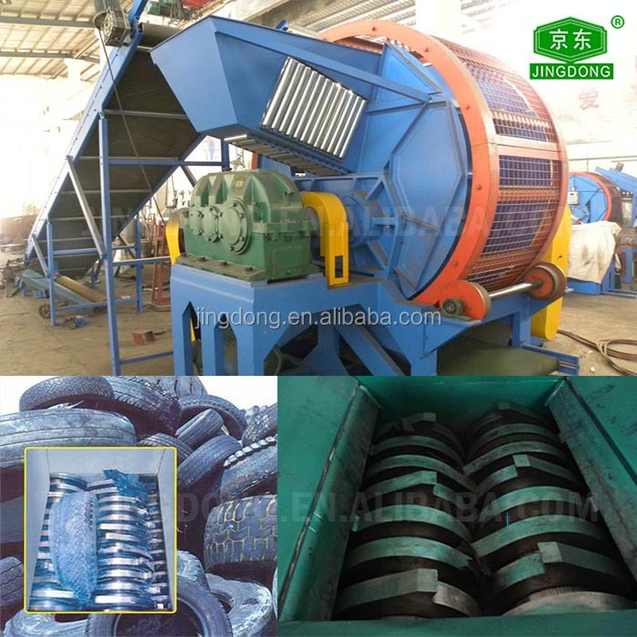 New type waste tyre shredder (rubber crusher )