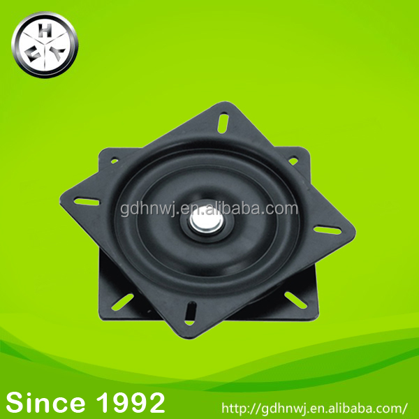 22 years old history hot sale M154x154mm square swivel plate/ lazy susan ball bearing turntable (FT15)