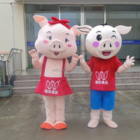 High quality traditional Chinese new year sex pig mascot costum