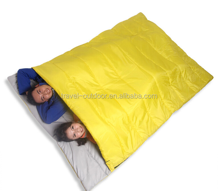 210*150cm Winter Adult Camping Sleeping Bag Double Couple Outdoor Warm Sleeping Bag Thick Down Lazy Bag Keeping Warm