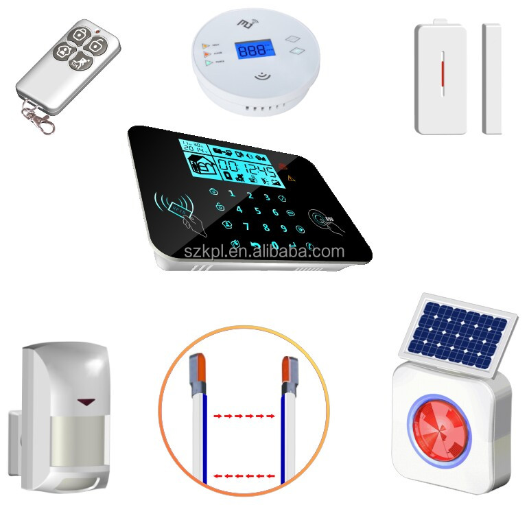 New products IPONE&ANDROID app GSM home security system/wireless home alarm magnetic door switch home security alarm
