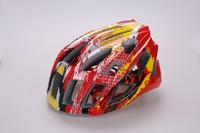 quality adult helmet with ce , safety PC in-mold cycling helmet , adult cycling helmet with colorful cover