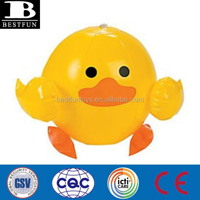 40cm pvc inflatable duck beach balls plastic vinyl water ball plastic bath toys ball