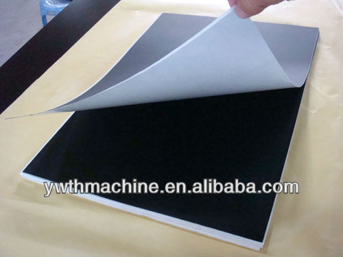 Black Rigid PVC Sheet With Glue For Photo Album Menu Book