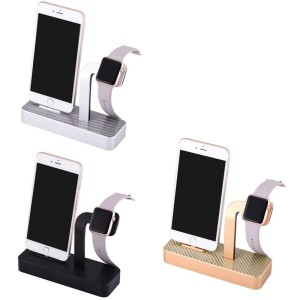 Luxury 2 in 1 Aluminum Stand for Apple Watch and iPhone, For Apple Watch Stand