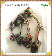 Lovely Baby Best Durable Pet Dogs Training Rope Toy with two, three, or four knots, best choice for your small medium and large