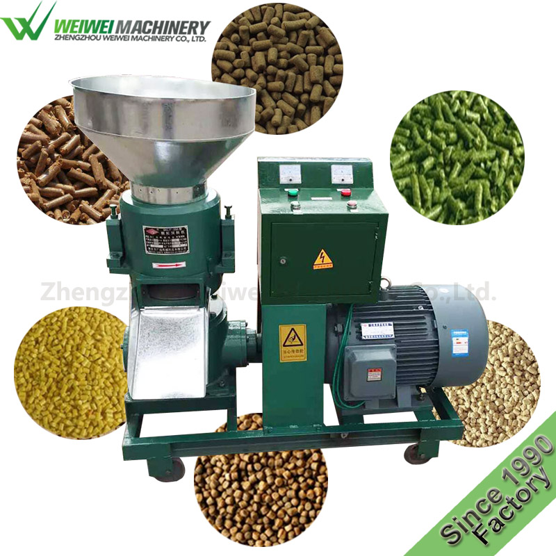 Weiwei animal feed poultry feed mill bagging machine pellet press