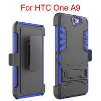 Heavy Duty Rugged Hybrid Protective Cover Case for HTC One A9 With Belt Clip Holster