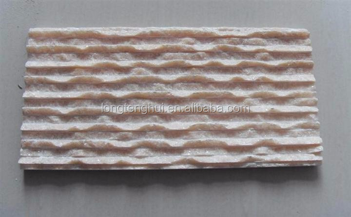 Natural landscape stone outside garden decoration stone in pink color