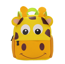 2017 kids backpack fashion animals cute Neoprene children school bag