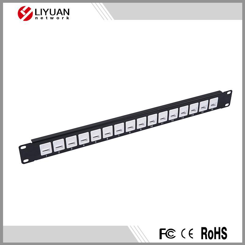 "UTP Blank Patch Panel,16 port, 19"" Use for Cat.5e or Cat.6 Keystone Jacks Patch Panel"