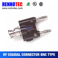 BNC male to double banana plug connector for RC battery with high quality