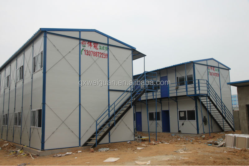 China Cheap PU Sandwich Panel Prefab Houses