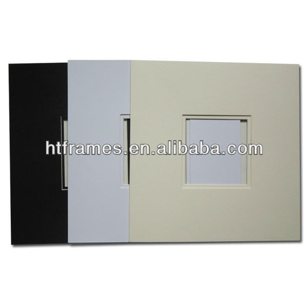 High quality different colors bevel cut pre-cut mat board 4x6 5x7 6x8 8x10 a4