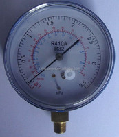 80mm Stainless steel freon manometer