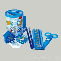 New stationery set including penholder,pencil,pencil sharpener,scissors,clip