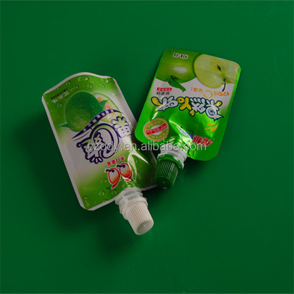 Plastic spout cap apple vinegar packing bag, stand up bag