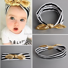Persnickety Baby Hair Accessories Wholesale Toddler Girls PU Leather Bowknots Kids Headbands Cute Hair Band