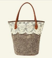 D60220z KOREAN FASHION LACE KNITTED WOMAN'S BAG