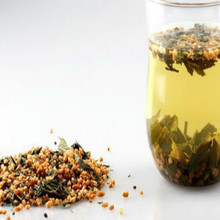 Genmaicha, Tea mixed with Roasted Brown Rice & Powdered Green Tea (Matcha)