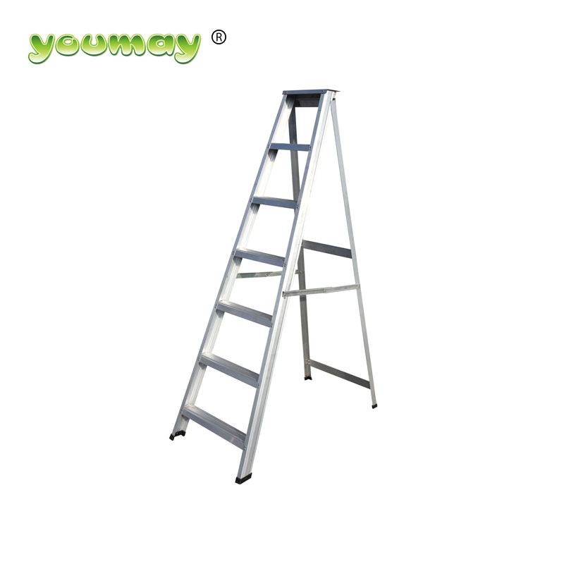 EN131 Aluminum step ladder folding ladder house hold AD0807A/building construction car wash equipment