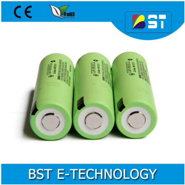 Hot selling 18650 battery dimensions CGR18650CG 2250mAh rechargeable li ion battery 3.7V cgr18650 battery