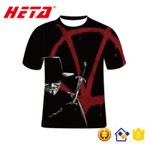 2017 Brand New Wholesale high quality short sleeve blank custom sublimation t shirt v for verdetta