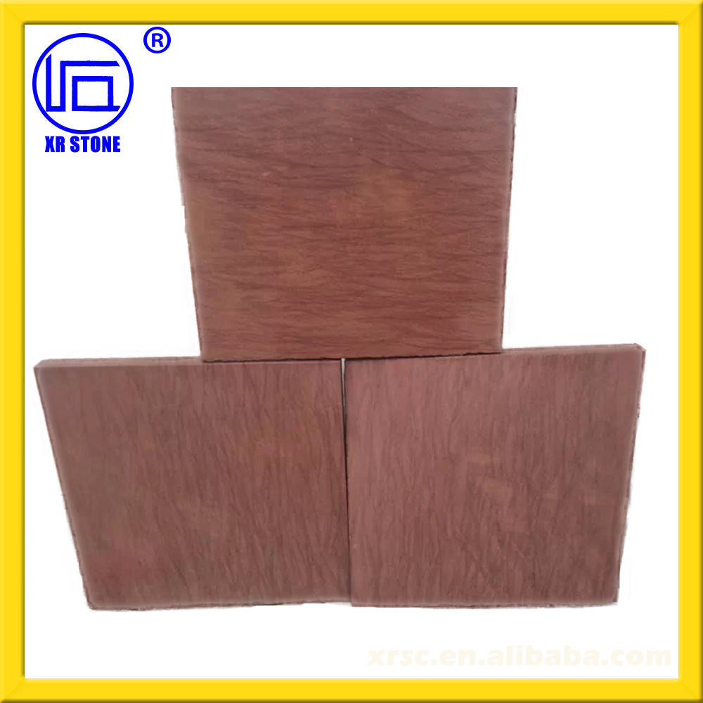 beauty and cheap with high quality red wood grain sandstone