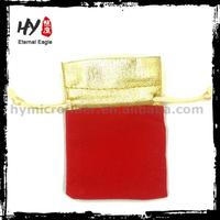 Brand new satin jewelry pouch chinese fabric, velvet pen gift bag, drawstring velvet pouches with high quality