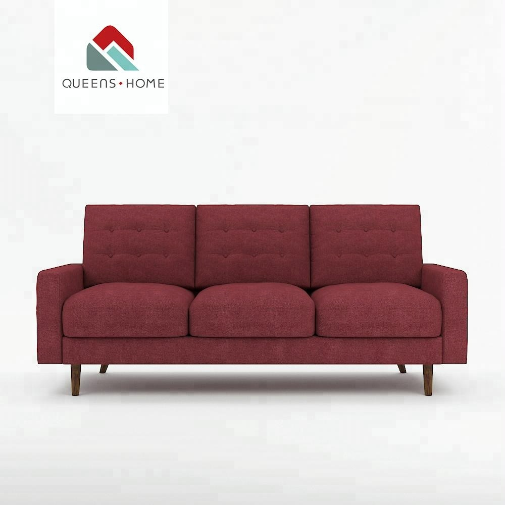Queenshome Red Home House Furniture Fabric Contemporary Microfiber Curved  Corduroy Tufted Living Room Set Cheap Couch Sofa - Buy Sofa Red Corduroy ...
