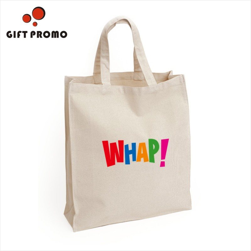 Hot Sales Promotional Natural Full Color Cotton Canvas Bag Shopping Tote Bag